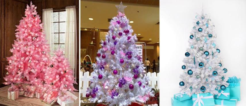 ideias para decorar arvore de natal branca : ideias para decorar arvore de natal branca: é muito legal, mas deve enjoar tipo natal da Barbie todo ano